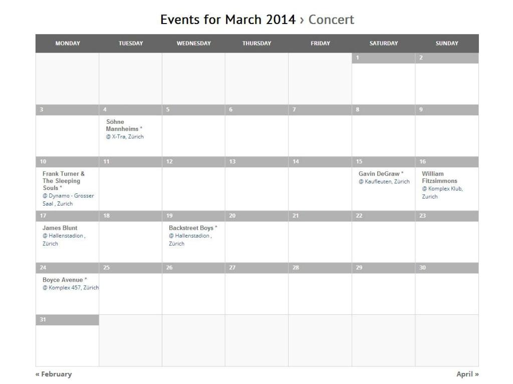 CalendarOverview